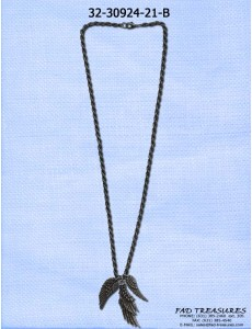3 Wing Burnish Chain Necklace