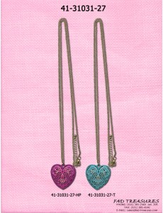 Heart With Stones Necklace