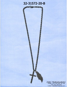 Cross And Wing Necklace