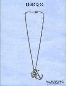 Anchor & Skull Coin Necklace