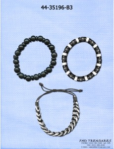 Discs Beads Braided Bracelet Set