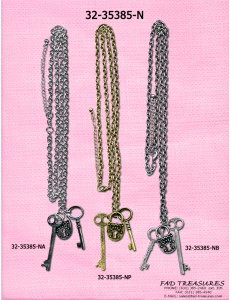 Chain With Adjustable 2 Keys And Lock