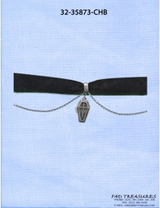 Velvet Choker With Coffin