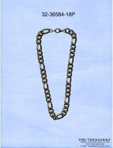 Burnish Gold Figaro Chain Necklace