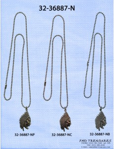 Indian Head Charm Ballchain Necklace