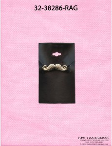 Antique Gold Mustache Ring