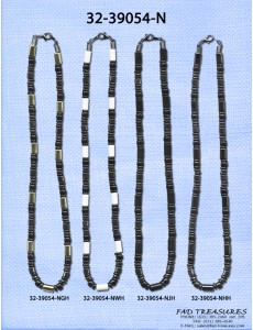 Assorted Black Bead Industrial Necklace