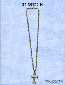 Gold Chain With Cross And Stones