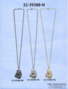 Assorted Chain With Crowned Lion Emblem Necklace