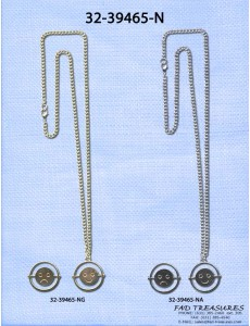 Assorted Chain With Happy/Unhappy Face Spin Dial Charm Necklace
