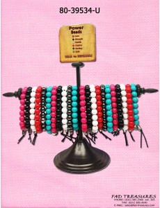 Power Bead Bracelet Unit With Display