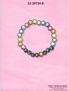 "Transparent Beads ""Fuck Off"" Bracelet"