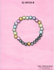 "Transparent Beads ""Pop Molly"" Bracelet"