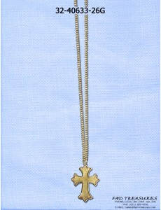 Gold Chain With Cross Necklace