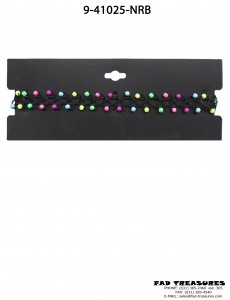 Choker Black Tattoo With Rainbow Beads Necklace