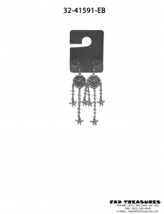 Assorted Dream Catcher With Chains/Spider Web & Spiders Earrings