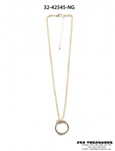 Gold O-RING Rope Chain Necklace