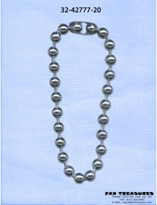 Silver Ballchain 14Mm Necklace