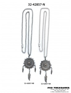 Assorted Chain And Dreamcatcher Sun Necklace
