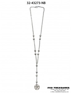 Facet Beads & Pentgram Necklace