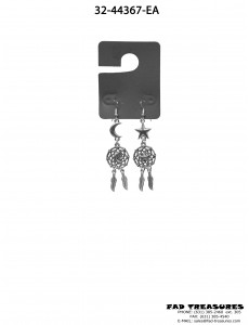 Antique Silver Dreamcatcher Star/Moon Earrings