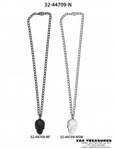 Assorted Chain And Skull Head Necklace