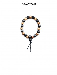 Black And Tiger Beaded Bracelet