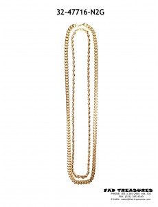 Gold 2 Row Chain Necklace