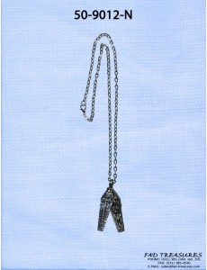 Opening Coffin Pendant Chain Necklace